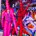Stilt walkers - entertainment at Bar Mitzvah
