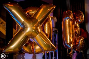 Gold Mylar Letter Balloons XO Party Bat Mitzvah