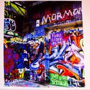 Grafitti backdrop at NYC Bar Mitzvah