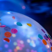 Huge confetti balloons for birthday party