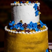 buttercream Bat Mitzvah cake with candle lighting