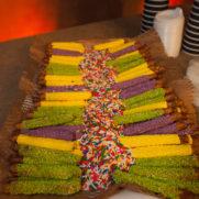 fatty sunday sprinkles pretzels dessert at party