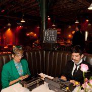 The Haiku Guys enteraining a bar mitzvah at the McKittrick Hotel