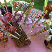 Candy bars for Hamptons birthday party