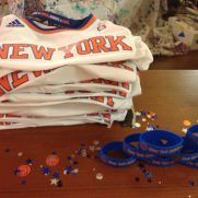 Confetti at basketball themed birthday party