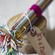 Party favors birch wood pencils with fringe tassels