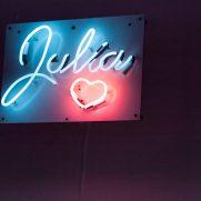 Custom neon signs for Bat Mitzvah @ Metropolitan Pavilion