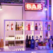 Neon sign and NYC bar for 50th bash @ Hudson Mercantile