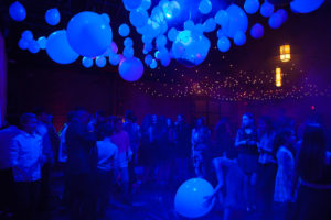 ceiling decor|balloon installation