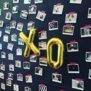 birthday xo balloons polaroid camera