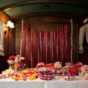 ribbon garland and flower crowns at bat mitzvah