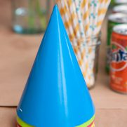 Party hats and straws